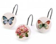 Подробнее о Крючки Avanti Butterfly Garden 13882G для шторки (12 штук) цвет белый
