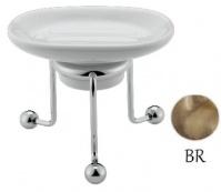 Подробнее о Мыльница Bagno&Associati Opera OP72292 настольная бронза / керамика белая