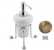 Подробнее о Дозатор для жидкого мыла Bagno&Associati Opera OP72992 настольный бронза/керамика белая