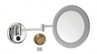 Подробнее о Зеркало Bagno&Associati SP80392 косметическое 24 см увеличительное (2X) с подсветкой бронза