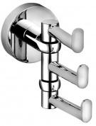 Подробнее о Крючок для ванной Bemeta Omega 104106072 тройной поворотный хром