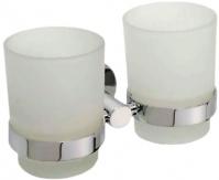 Подробнее о Стакан для ванной Bemeta Omega 104110022 двойной хром/стекло матовое
