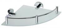 Подробнее о Полка для ванной Bemeta Omega 104202162 угловая 23 х h7 см хром/стекло матовое