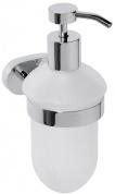 Подробнее о Дозатор для жидкого мыла Bemeta Oval 118409011 хром/стекло матовое