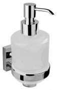 Подробнее о Дозатор жидкого мыла Bemeta Beta 132109182 с мыльницей хром/стекло матовое