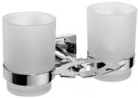 Подробнее о Стакан двойной Bemeta Beta 132110042 с мыльницей хром/стекло матовое