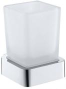 Подробнее о Стакан Bemeta Solo 139110012 подвесной хром/стекло матовое