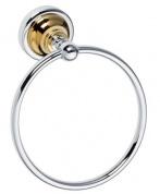 Подробнее о Полотенцедержатель-кольцо Bemeta Retro Gold and Chrom 144204068 хром/золото