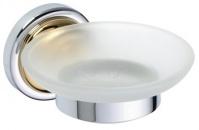 Подробнее о Мыльница Bemeta Retro Gold and Chrom 144208028 хром/золото/стекло матовое