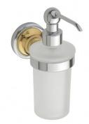 Подробнее о Дозатор жидкого мыла Bemeta Retro Gold and Chrom 144209018 хром/золото/стекло матовое