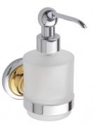 Подробнее о Дозатор жидкого мыла Bemeta Retro Gold and Chrom 144209108 хром/золото/стекло матовое