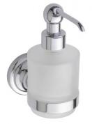 Подробнее о Дозатор жидкого мыла Bemeta Retro Chrom 144309102 хром/стекло матовое