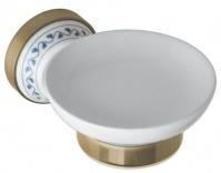 Подробнее о Мыльница Bemeta Kera 144708027 бронза/керамика белая