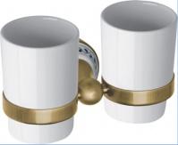 Подробнее о Стакан Bemeta Kera 144710027 двойной бронза/керамика белая