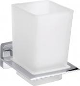 Подробнее о Стакан для зубных щеток Bemeta Niki 153110052 хром/стекло матовое