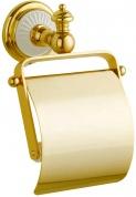 Подробнее о Бумагодержатель Boheme Palazzo Blanco 10101 закрытый золото / керамика белая