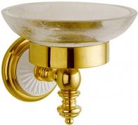 Подробнее о Мыльница Boheme Palazzo Blanco 10103 настенная золото / стекло кракле /керамика белая