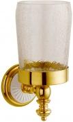 Подробнее о Стакан Boheme Palazzo Blanco 10104 настенный золото /стекло кракле / керамика белая