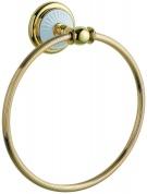 Подробнее о Полотенцедержатель Boheme Palazzo Blanco 10105 кольцо золото / керамика белая