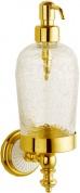 Подробнее о Дозатор для мыла Boheme Palazzo Blanco 10117 настенный золото /стекло кракле / керамика белая
