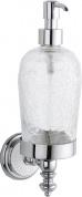 Подробнее о Дозатор для мыла Boheme Vogue Blanco 10147 настенный хром /стекло кракле / керамика белая