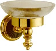 Подробнее о Мыльница Boheme Palazzo Nero 10153 настенная золото / стекло кракле /керамика черная