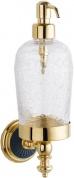 Подробнее о Дозатор для мыла Boheme Palazzo Nero 10167 настенный золото /стекло кракле / керамика черная