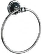Подробнее о Полотенцедержатель Boheme Vogue Nero 10185 кольцо хром / керамика черная
