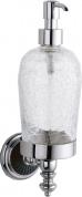 Подробнее о Дозатор для мыла Boheme Vogue Nero 10197 настенный хром /стекло кракле / керамика черная