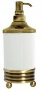 Подробнее о Дозатор мыла Boheme Hermitage Bronze 10329 настольный бронза / керамика белая