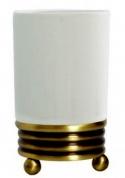Подробнее о Стакан Boheme Hermitage Bronze 10331 настольный бронза / керамика белая