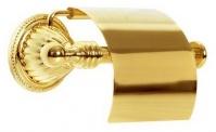 Подробнее о Держатель туалетной бумаги Boheme Hermitage Gold 10350 с крышкой золото