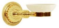 Подробнее о Мыльница Boheme Hermitage Gold 10352 настенная золото / керамика белая