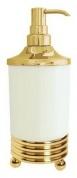 Подробнее о Дозатор мыла Boheme Hermitage Gold 10359 настольный золото / керамика белая