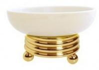 Подробнее о Мыльница  Boheme Hermitage Gold 10360 настольная золото / керамика белая