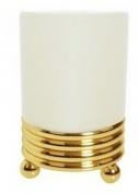 Подробнее о Стакан Boheme Hermitage Gold 10361 настольный золото / керамика белая