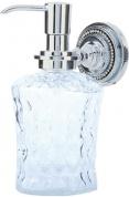 Подробнее о Дозатор для мыла Boheme Brilliante 10447 настенный хром /хрусталь