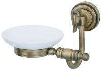Подробнее о Мыльница Boheme Medici 10603 настенная  бронза  / стекло матовое