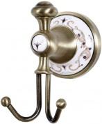 Подробнее о Крючок Boheme Provanse 10806 двойной бронза / керамика с декором