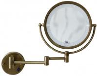 Подробнее о Зеркало косметическое Boheme Medici 501 настенное с подсветкой (3Х) бронза