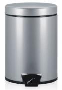 Подробнее о Ведро мусорное Brabantia 246623 с педалью (5 литров Metallic Grey (серый металлик