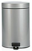 Подробнее о Ведро мусорное Brabantia 247620 с педалью (3 литра Metallic Grey (серый металлик