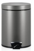 Подробнее о Ведро мусорное Brabantia 288241 с педалью (5 литров Platinum (платина