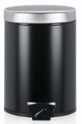 Подробнее о Ведро мусорное Brabantia 333361 с педалью (5 литров Matt Black (черный матовый