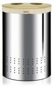 Подробнее о Бак для белья Brabantia 360381 двойной (40 литров Brilliant Steel (сталь полированная