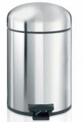 Подробнее о Ведро мусорное Brabantia Retro Bin 361203 с педалью (5 литров Brilliant Steel (сталь полированная