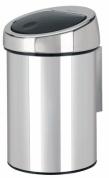Подробнее о Ведро мусорное Brabantia 363962 Touch Bin (3 литра Brilliant Steel (сталь полированная