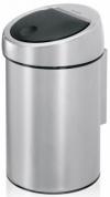 Подробнее о Ведро мусорное Brabantia 363986 Touch Bin (3 литра Matt Steel (сталь матовая