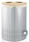 Подробнее о Бак для белья Brabantia 375323 двойной (40 литров Matt Steel Fingerprint Proof (мат. сталь с защитой от отпечатков пальцев
