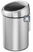 Подробнее о Ведро мусорное Brabantia 378645 Touch Bin (3 литра Matt Steel Fingerprint Proof (сталь матовая с защитой от отпечатков пальцев